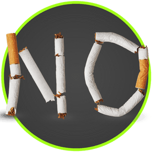 picture of no smoking made out of cigarettes