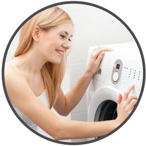 picture of woman doing laundry
