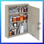 picture of STEELMASTER Large Medical Security Cabinet, Dual Locks
