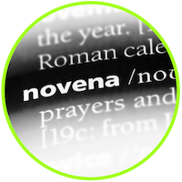picture of the word novena
