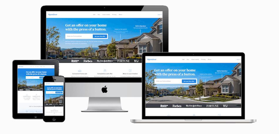 picture of opendoor.com website