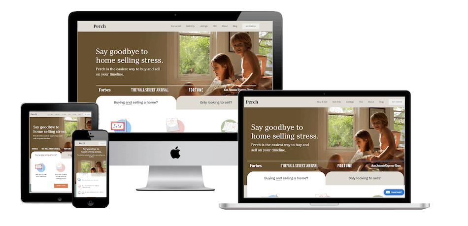 picture of perch.com website